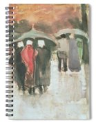 In The Rain, 1882 Spiral Notebook