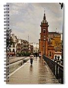 In The Rain - Puente De Triana Spiral Notebook