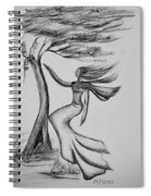 In The Wind She Dances Spiral Notebook