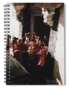 In Tibet Tibetan Monks 5 By Jrr Spiral Notebook