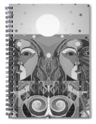In Unity And Harmony In Grayscale Spiral Notebook
