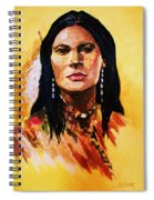 Maiden In White Feather And Beads Spiral Notebook