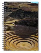 Inca Crop Circles At Moray Spiral Notebook