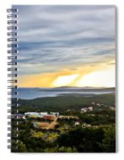 Incoming Storm Over Losinj Island Spiral Notebook