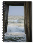 Incoming Tide At 32nd Street Pier Avalon New Jersey Spiral Notebook