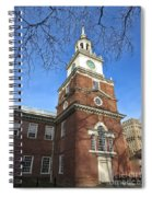Independence Hall Bell Tower Spiral Notebook