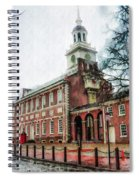Independence Hall From Chestnut Street Spiral Notebook