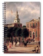 Independence Hall In Philadelphia Spiral Notebook