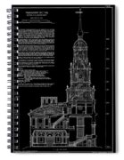 Independence Hall Transverse Section - Philadelphia Spiral Notebook