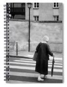 Independence - Street Crosswalk - Woman Spiral Notebook