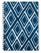Indgo And White Diamonds Large Spiral Notebook