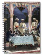 India  British Colonial Era  Banquet At The Palace Of Rais In Mynere Spiral Notebook