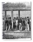 India Train Station, 1854 Spiral Notebook