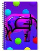 Indian Blue Spiral Notebook