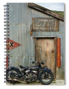 Indian Chout At The Old Okains Bay Garage 1 Spiral Notebook