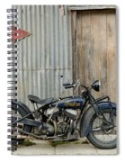 Indian Chout At The Old Okains Bay Garage 2 Spiral Notebook