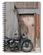 Indian Chout At The Old Okains Bay Garage 3 Spiral Notebook