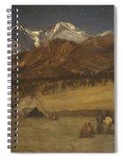 Indian Encampment - Evening Spiral Notebook