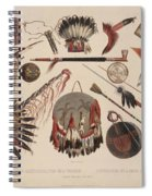 Indian Implements And Arms Spiral Notebook