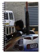 Indian Man Enjoying In A Bumper Cars Ride In An Entertainment Park Spiral Notebook
