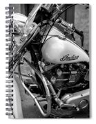 Indian Motorcycle In French Quarter-bw Spiral Notebook