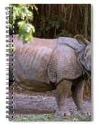 Indian Rhinoceros Spiral Notebook