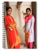Indian Sewing Students Spiral Notebook