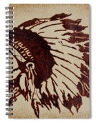 Indian Wise Chief Coffee Painting Spiral Notebook