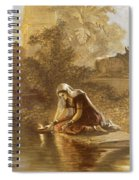 Indian Woman Floating Lamps Spiral Notebook