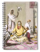 Indian Woman In Her Finery, With Guests Spiral Notebook