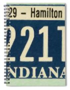 Indiana License Plate Spiral Notebook