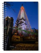 Indiana - Soldiers And Sailers Monument With Lights Spiral Notebook