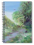 Indiana Spring Afternoon By The Creek Spiral Notebook
