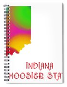 Indiana State Map Collection 2 Spiral Notebook