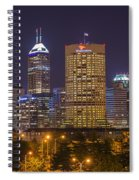 Indianapolis Night Skyline Echo Spiral Notebook