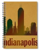 Indianapolis Skyline Watercolor On Parchment Spiral Notebook