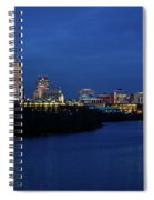 Indianapolis State Capitol And Skyline Spiral Notebook