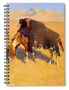 Indians Simulating Buffalo Spiral Notebook