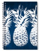 Indigo And White Pineapples Spiral Notebook