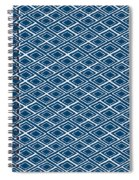 Indigo And White Small Diamonds- Pattern Spiral Notebook