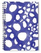 Indigo Bubbles- Contemporary Absrtract Watercolor Spiral Notebook