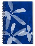 Indigo Flowers Spiral Notebook