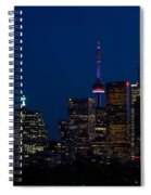 Indigo Sky And Toronto Skyline Spiral Notebook