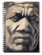 Indio Indian Black And White Oil Painting Spiral Notebook