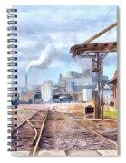 Industrial Railroad Scene  Spiral Notebook