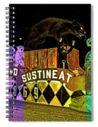Infant Mystics Emblem In Mardi Gras Colors Spiral Notebook
