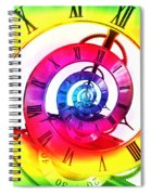 Infinite Time Rainbow 3 Spiral Notebook