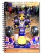 Infiniti Red Bull Formula One Racing Car  Spiral Notebook
