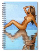 Infinity Pool Nude Spiral Notebook