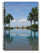 Infinity Pool Of Aureum Palace Hotel Spiral Notebook